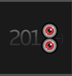 2018 new year vector image vector image