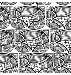 Black and white seamless texture vector image vector image