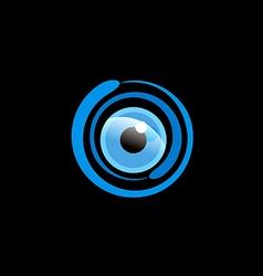 eye ball cam monitor logo vector image vector image