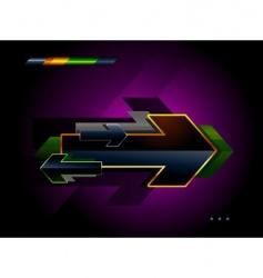 high tech arrow vector image vector image