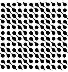 abstract background of black connected dots in vector image vector image