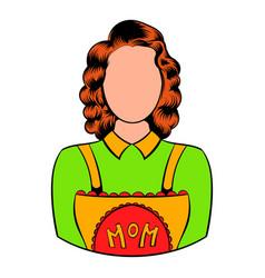 mom icon in icon cartoon vector image
