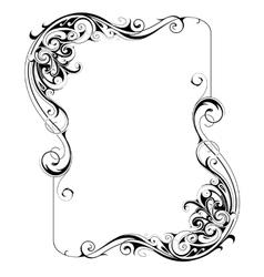 Retro style frame vector image