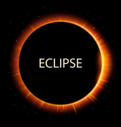 total eclipse of the sun background vector image vector image