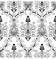 Vintage seamless pattern ivy and fire flower vector image vector image