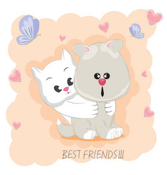 best friends vector image