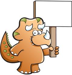 Cartoon Triceratops vector image vector image