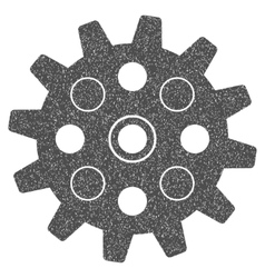 Gearwheel grainy texture icon vector