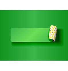 Peeling label green on green vector image