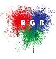 RGB splatter vector image
