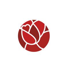 rose logo flower emblem flowers shop symbol vector image vector image