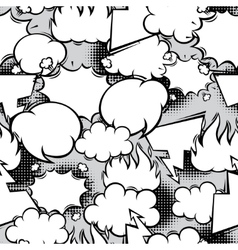 Seamless pattern of comic speech bubbles in vector image vector image
