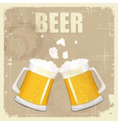 Vintage postcard cover menu - beer vector