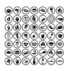 49 different food icons set 2 vector