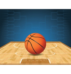 Basketball bracket court and ball vector