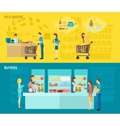 Buyer Banner Set vector image