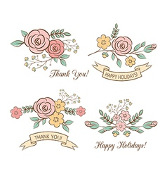 Holiday graphics set vector image