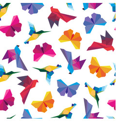 origami birds seamless vector image vector image