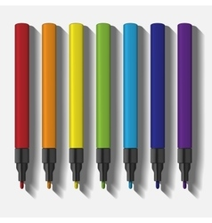 paint marker pen set template vector image