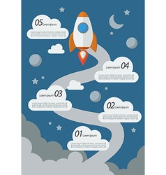 Rocket Launch Infographic vector image vector image