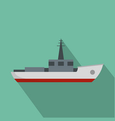 ship fishing icon flat style vector image vector image