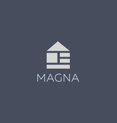 Abstract home house building symbol icon logotype vector