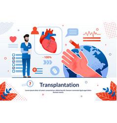 advertising banner is written transplantation vector image