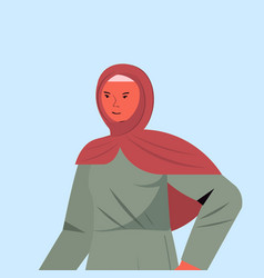 arabic woman in traditional clothes arab female vector image