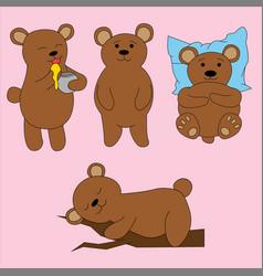 bear in cartoon style cute vector image