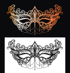 Beautiful lace masquerade mask vector