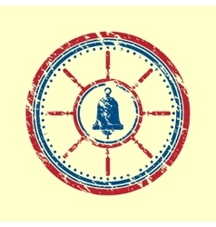 Bell symbol grunge vector image