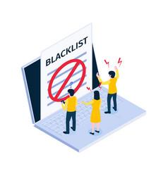 Blacklist isometric icon vector