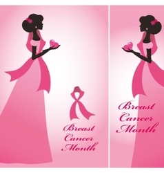 breast cancer awareness ribon vector image