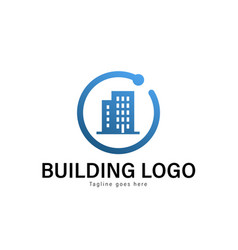 building logo template design building logo with vector image