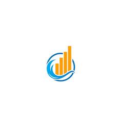 Business building economy graph logo vector
