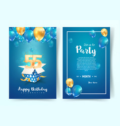 Celebration 55th years birthday vector