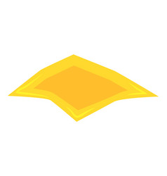 cheese slice for hamburger symbol icon design vector image