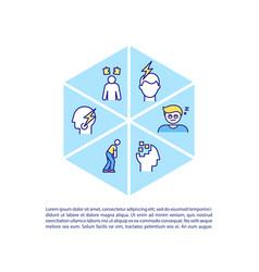 Chronic fatigue syndrome concept icon with text vector