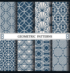 circle geometric patternpattern fills web page vector image