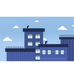 City buildings of flat vector