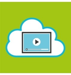 Cloud computing video player vector