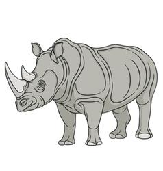 Color rhinoceros vector