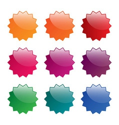 Colorful blank labels vector image