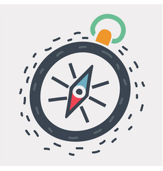 compass icon on white vector image