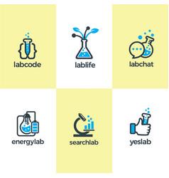 creative lab logo brand image template vector image