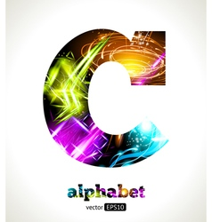 Design Abstract Letter C vector image