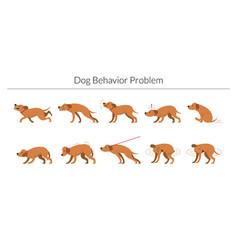 Dog behavior problem set vector