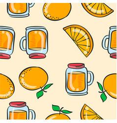 Doodle orange drink theme art vector