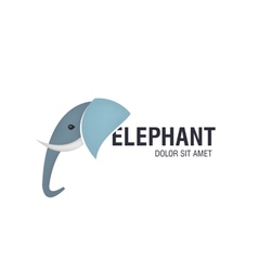 Elephant head logo vector