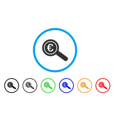 euro financial audit rounded icon vector image